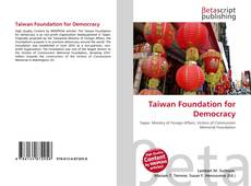 Bookcover of Taiwan Foundation for Democracy