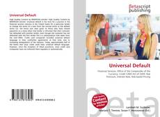 Bookcover of Universal Default