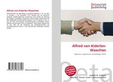 Couverture de Alfred von Kiderlen-Waechter