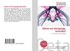 Buchcover von Alfred von Königsegg-Aulendorf