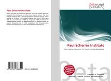 Capa do livro de Paul Scherrer Institute