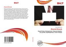 Bookcover of David Oreck