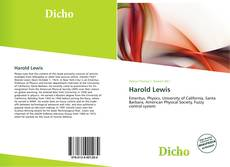Bookcover of Harold Lewis