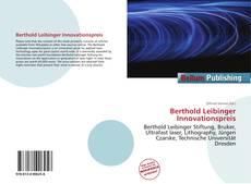 Обложка Berthold Leibinger Innovationspreis