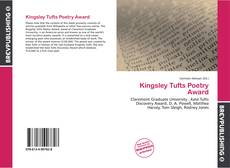 Kingsley Tufts Poetry Award的封面