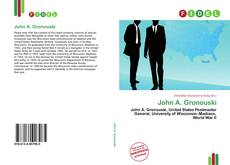 Bookcover of John A. Gronouski
