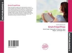 Buchcover von Erich Fried Prize