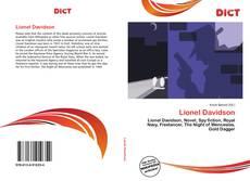 Buchcover von Lionel Davidson