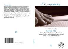 Portada del libro de George Ade
