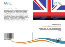 Buchcover von House of Lords Act 1999