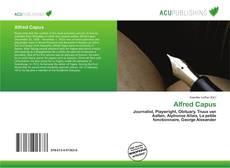 Bookcover of Alfred Capus