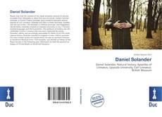 Buchcover von Daniel Solander