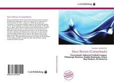 Dave Brown (Cornerback) kitap kapağı