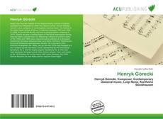Bookcover of Henryk Górecki