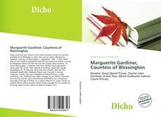 Bookcover of Marguerite Gardiner, Countess of Blessington