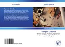 Buchcover von François Girardon