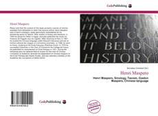 Capa do livro de Henri Maspero
