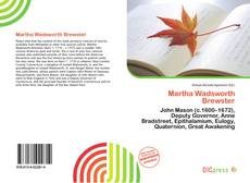 Bookcover of Martha Wadsworth Brewster