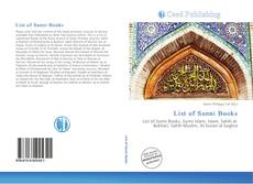 Bookcover of List of Sunni Books