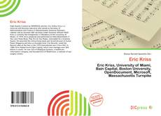 Bookcover of Eric Kriss