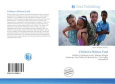 Bookcover of Children's Defense Fund