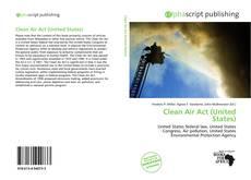 Copertina di Clean Air Act (United States)