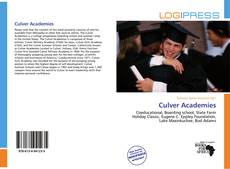 Bookcover of Culver Academies