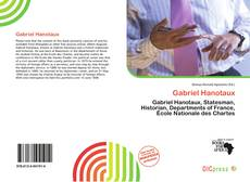 Bookcover of Gabriel Hanotaux