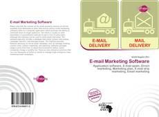Bookcover of E-mail Marketing Software