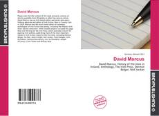 Bookcover of David Marcus