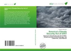 Portada del libro de America's Climate Security Act of 2007