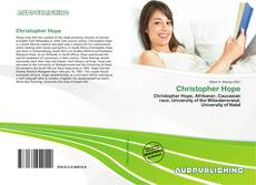Bookcover of Christopher Hope