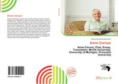 Bookcover of Anne Carson