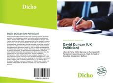 Bookcover of David Duncan (UK Politician)