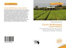 Portada del libro de Carey McWilliams (Journalist)