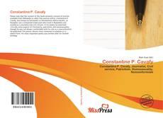 Constantine P. Cavafy kitap kapağı