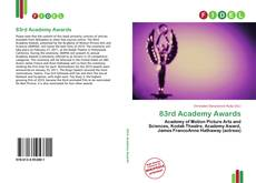 Bookcover of 83rd Academy Awards
