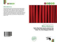 Capa do livro de Miles Malleson