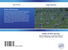 Bookcover of Battle of Mill Springs