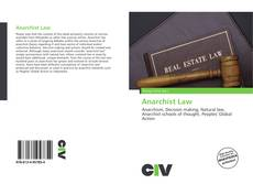 Capa do livro de Anarchist Law