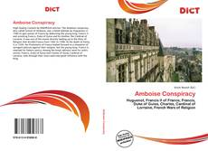 Portada del libro de Amboise Conspiracy