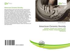 Bookcover of American Ceramic Society