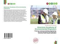 Bookcover of American Academy of Environmental Engineers