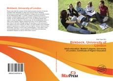 Birkbeck, University of London的封面