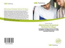 Обложка Altrincham Grammar School for Boys