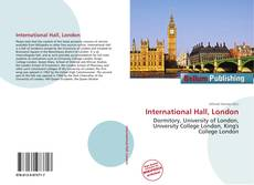 Bookcover of International Hall, London