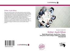 Gohar Ayub Khan kitap kapağı
