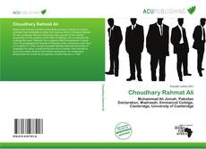Bookcover of Choudhary Rahmat Ali