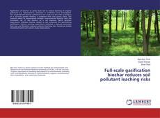 Copertina di Full-scale gasification biochar reduces soil pollutant leaching risks