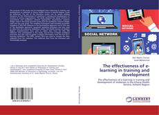 Portada del libro de The effectiveness of e-learning in training and development